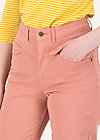 logo high waist pants, old rose, Trousers, Pink