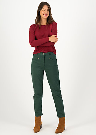 logo high waist pants , green denim, Hosen, Grün