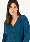 logo romance blouse, harbor blue, Shirts, Turquoise