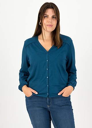 logo romance blouse, harbor blue, Shirts, Türkis