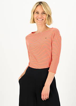 logo stripe 3/4 arm shirt, red tiny stripe, Shirts, Rot