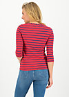 logo stripe 3/4 sleeve shirt, stripe of love, Shirts, Rot