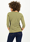 logo stripe 3/4 sleeve shirt, stripe of nature, Shirts, Grün