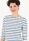 logo stripe 3/4 sleeve shirt, stripe of paris, Shirts, White