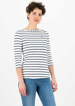 logo stripe 3/4 sleeve shirt, stripe of paris, Shirts, Weiß