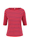logo stripe halfsleeve, stripe of love, Shirts, Rot