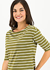 logo stripe halfsleeve, stripe of nature, Shirts, Green