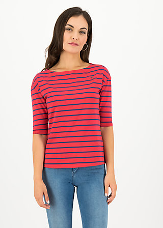 logo stripe halfsleeve, stripe of love, Shirts, Rot