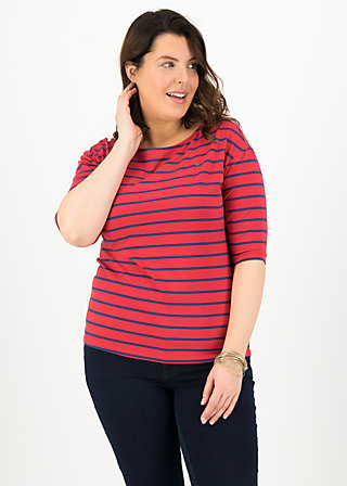 logo stripe halfsleeve, stripe of love, Shirts, Red