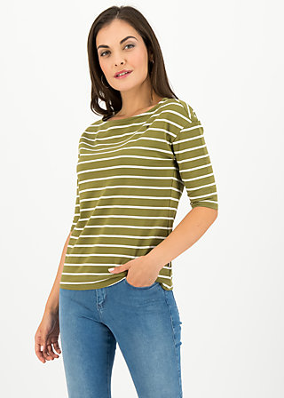 logo stripe halfsleeve, stripe of nature, Shirts, Grün
