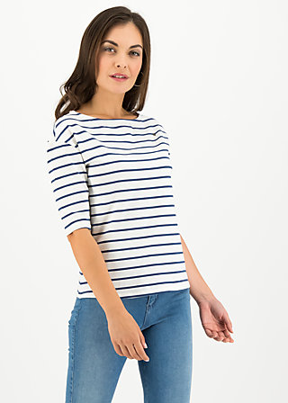 logo stripe halfsleeve, stripe of paris, Shirts, Weiß