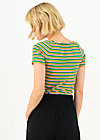 logo stripe heart t-shirt, rainbow tiny stripe, Shirts, Blau