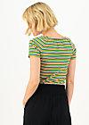 logo stripe heart t-shirt, rainbow tiny stripe, Shirts, Blue