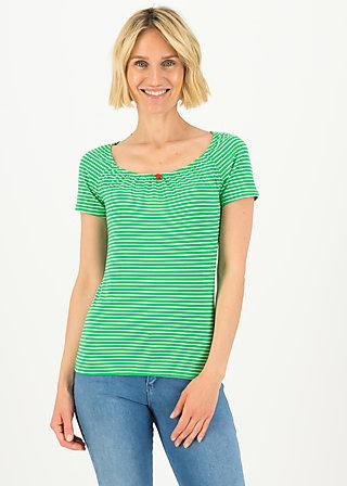 logo stripe heart t-shirt, green tiny stripe, Shirts, Grün