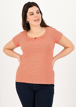 logo stripe heart t-shirt, red tiny stripe, Shirts, Rot