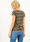 logo stripe t-shirt, forest night stripes, Shirts, Braun