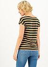 logo stripe t-shirt, forest night stripes, Shirts, Brown