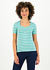 logo stripe t-shirt, stripe of aqua, Shirts, Türkis
