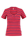 logo stripe t-shirt, stripe of love, Shirts, Red