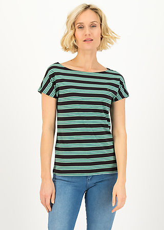 logo stripe t-shirt, black graphite stripes, Shirts, Black