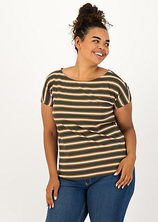 logo stripe t-shirt, forest night stripes, Shirts, Braun