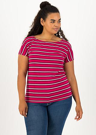 logo stripe t-shirt, morning glory stripes, Shirts, Rot