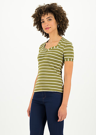 logo stripe t-shirt, stripe of nature, Shirts, Grün