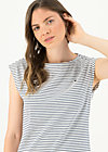logo stripe top, blue tiny stripe, Shirts, Blau