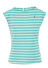 logo stripe top, stripe of aqua, Shirts, Türkis