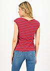 logo stripe top, stripe of love, Shirts, Red