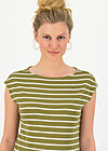 logo stripe top, stripe of nature, Shirts, Grün