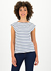 logo stripe top, stripe of paris, Shirts, Weiß