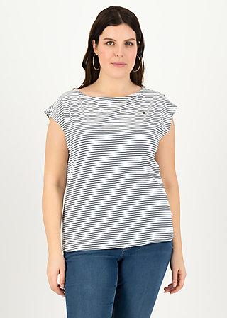 logo stripe top, blue tiny stripe, Shirts, Blau