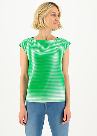 logo stripe top, green tiny stripe, Shirts, Grün