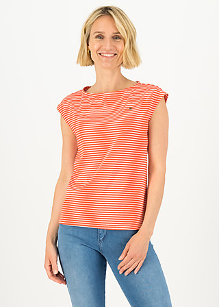 logo stripe top, red tiny stripe, Shirts, Rot