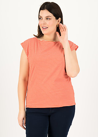 logo stripe top, red tiny stripe, Shirts, Rot