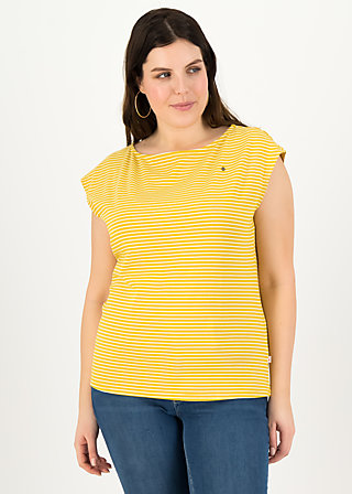 logo stripe top, yellow tiny stripe, Shirts, Gelb