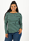 logo striped longsleeve shirt, black graphite stripes, Shirts, Schwarz