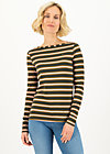 logo striped longsleeve shirt, forest night stripes, Shirts, Brown