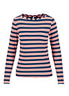 logo striped longsleeve shirt, majolica blue stripes, Shirts, Blau