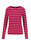 logo striped longsleeve shirt, morning glory stripes, Shirts, Rot