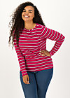 logo striped longsleeve shirt, morning glory stripes, Shirts, Red