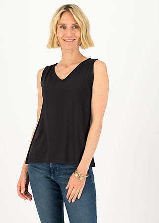 logo top graceful flow, pure black, Shirts, Schwarz