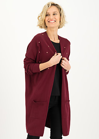 rosebud long cardy, romantic rumba red, Pullover & leichte Jacken, Rot