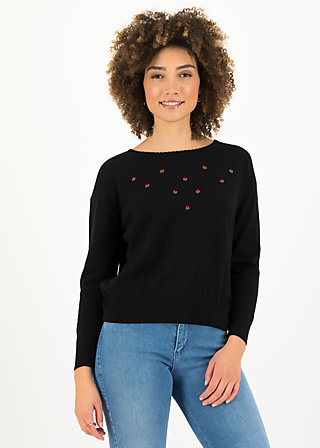 Knitted Jumper rosebud, romantic black, Cardigans & lightweight Jackets, Black