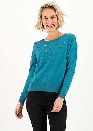 rosebud pullover, romantic dusty blue, Pullover & leichte Jacken, Blau