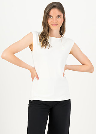 Basic Top sailorlove, clean white, Shirts, Weiß