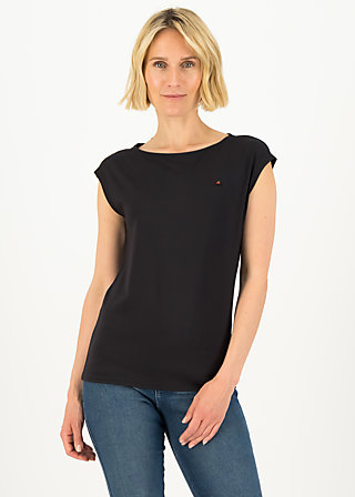 Basic Top sailorlove, pure black, Shirts, Schwarz