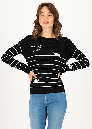 Strickpullover sea promenade, black classic, Pullover & Sweatshirts, Schwarz