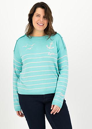 seaside cottage sweater, sailors hope, Pullover & leichte Jacken, Türkis